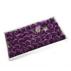 Lot de 50 roses de savon parfumées, vraie touche, marsalla foncé