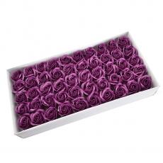 Lot de 50 roses de savon parfumées, vraie touche, marsalla