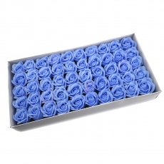 Lot de 50 roses de savon parfumées, vraie touche, bleo
