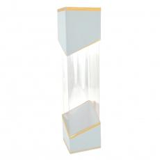 Boîte métallique transparente blanche